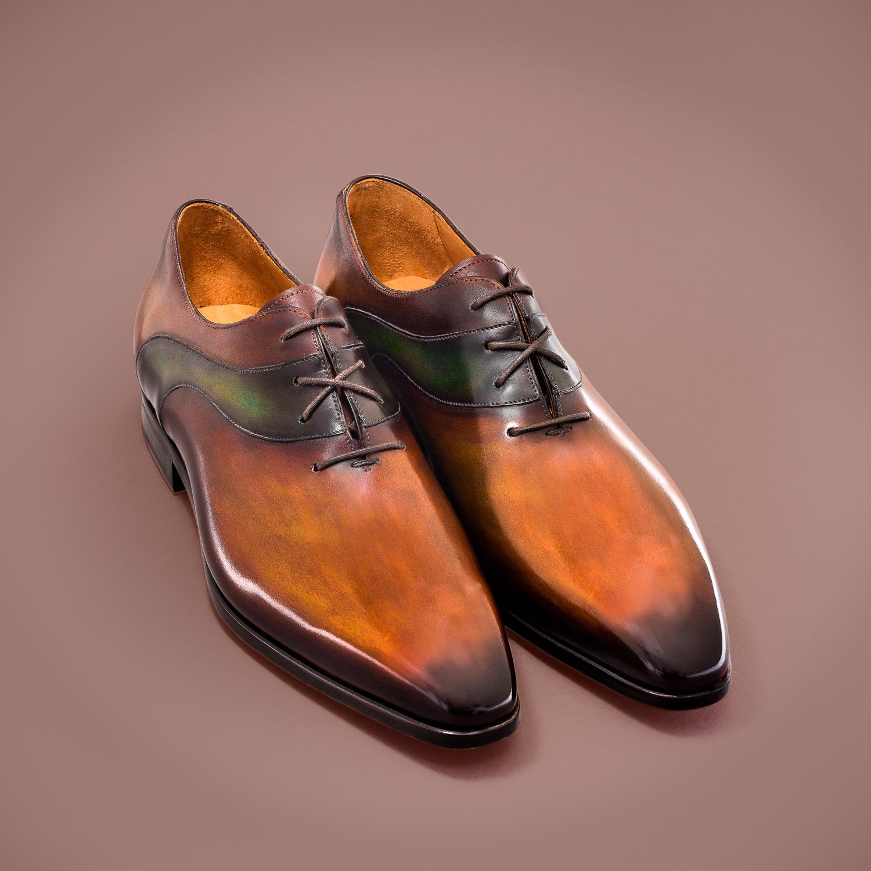 richelieu altan bottier, le sade, patine, chaussure pour homme