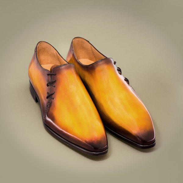 richelieu Altan Bottier, cuir à patiner, richelieu, chaussure pour homme