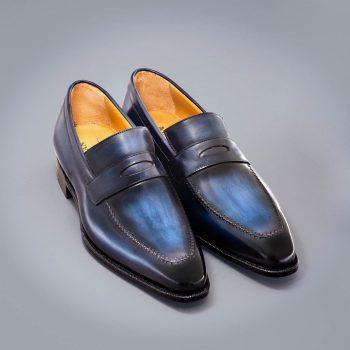 Altan Bottier, loafer shoes, mocassin, oxford shoe, men's shoes, luxury shoes, patina, patinated leather, paris, berluti