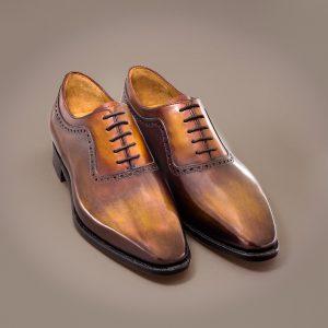 richelieu homme altan bottier, patine, chaussure