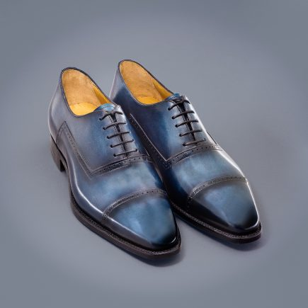 richelieu homme altan bottier, cuir à patiner, paris, chaussure
