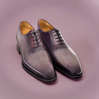 chaussure richelieu homme Altan Bottier, patine, Berluti