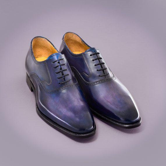 richelieu altan bottier, patine, goodyear, chaussure pour homme