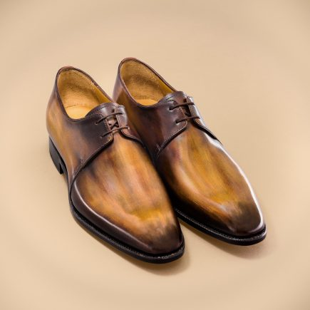 Altan Bottier, derby shoe, men's shoes, luxury shoes, patina, patinated leather, paris, berluti