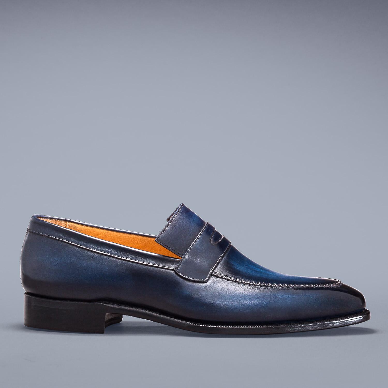 mocassin altan bottier, loafer, chaussure homme, patine, berluti