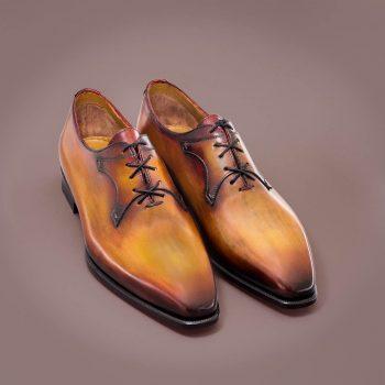 richelieu le Eiffel altan bottier, patine, goodyear, chaussure pour homme, berluti