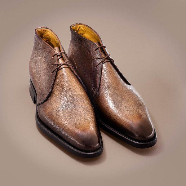 Altan Bottier, Boots shoes, men's boots, luxury shoes, patina, patinated leather, paris, berluti
