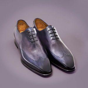 richelieu le stefano, altan bottier, patine, goodyear, chaussure pour homme, berluti
