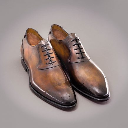 Altan Bottier, oxford shoe, men's shoes, luxury shoes, patina, patinated leather, paris, berluti