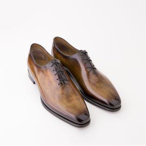 richelieu altan bottier, chaussure à patiner, soulier homme, patine,