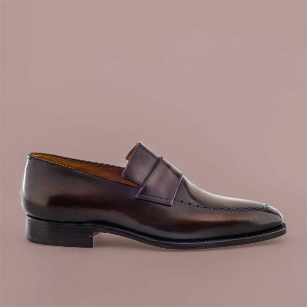 Altan Bottier mocassin, loafer, blind strap, patine, chaussure à patiner, men's shoes