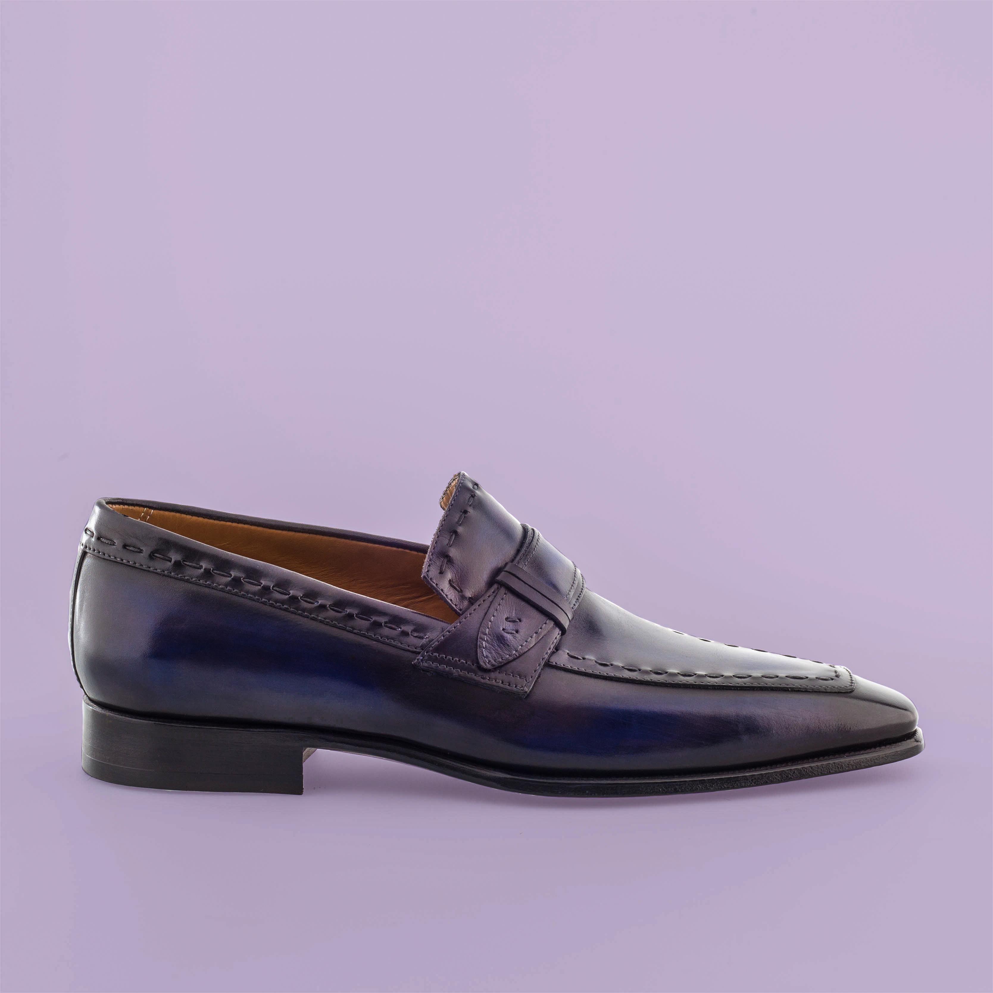 Mocassin Azur altan bottier, patine, goodyear, chaussure pour homme