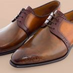 Chaussure Altan Bottier, modèle derby le toscan, chaussure à patiner, altan bottier