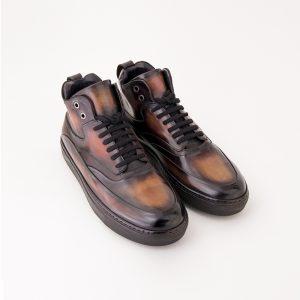 Sneacker homme, altan bottier, sneacker de luxe, patine,