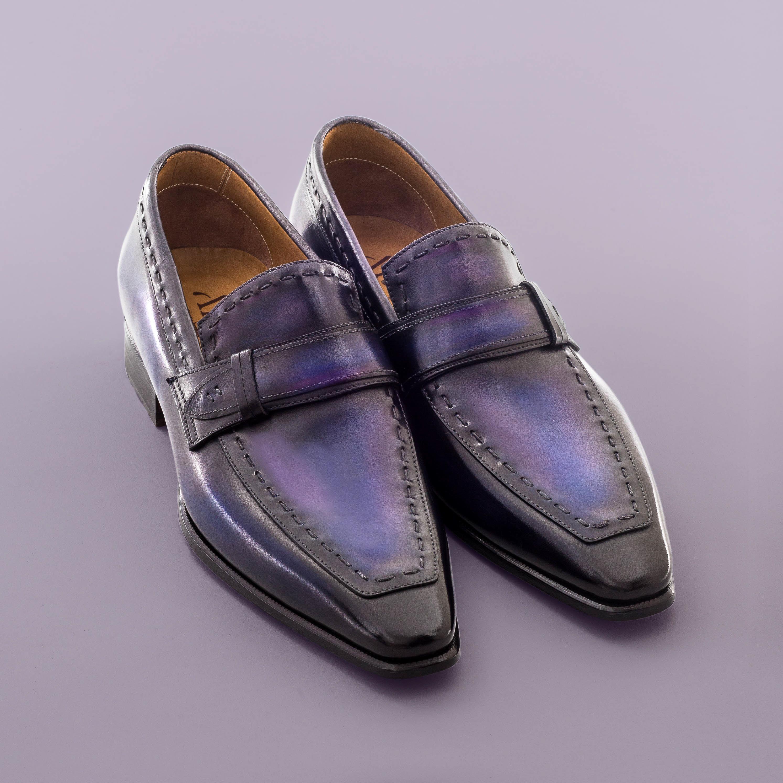 Mocassin Azur altan bottier, patine, goodyear, chaussure pour homme,
