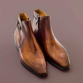 boots, altan bottier, boots for men, men's shoes, luxury shoes, dress shoes, patina, patinated leather, berluti
