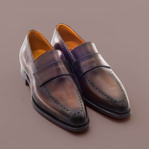 Altan Bottier mocassin, loafer, blind strap, patine, chaussure à patiner, men's shoes