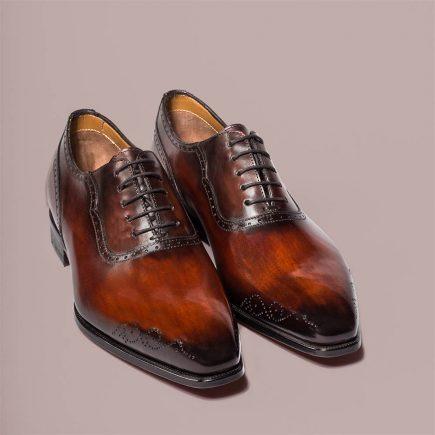 Modèle Aramis Altan Bottier, richelieu, chaussure pour homme, cuir à patiner