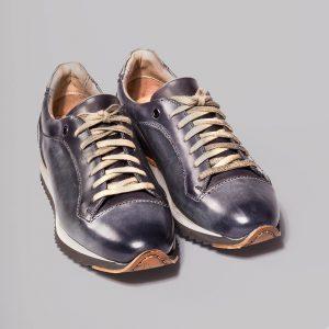 Sneacker Zirco, sneacker homme en cuir, patine, altan bottier