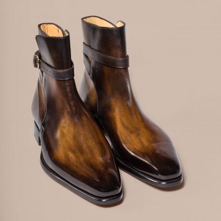 Bottine Jodhpur Altan Bottier, montage goodyear, patine, chaussures, boots,