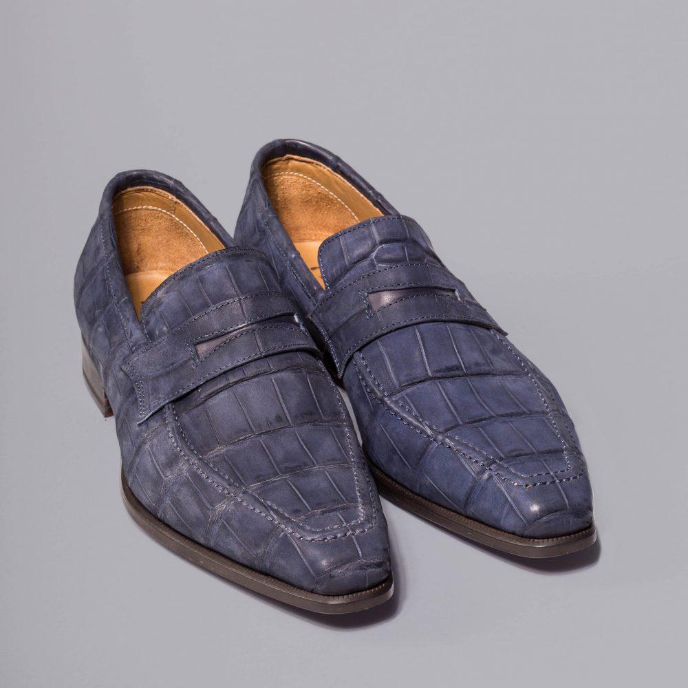 mocassin altan bottier, le lincoln, cuir d'alligator, chaussure pour homme, soulier de luxe