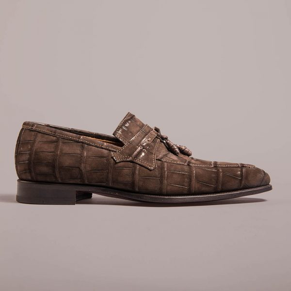 tassels loafer altan bottier, julius, alligator leather, dress shoes, luxury shoes, men's shoes