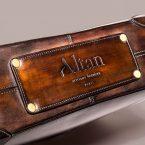 Cartable Altan Bottier Marco, cuir à patiner, maroquinerie accéssoires pour homme, paris