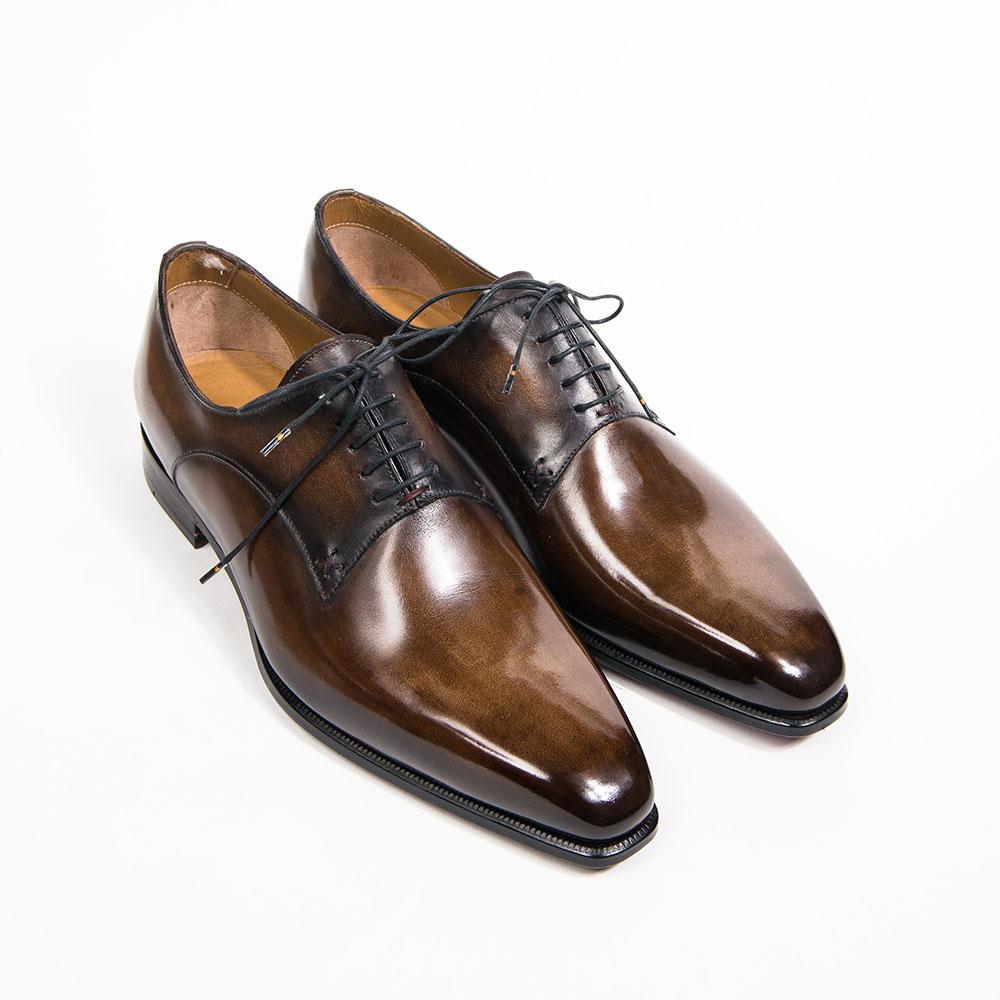 Richelieu Altan Bottier, Modèle Le Col, cuir à patiner, chaussure pour homme, chaussure habillé, cuir à patiner