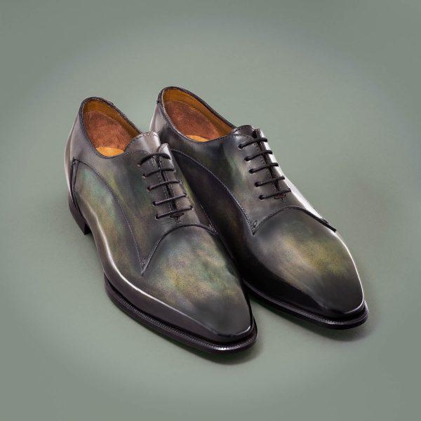 Richelieu Aristos, Altan Bottier, chaussure pour homme, patine