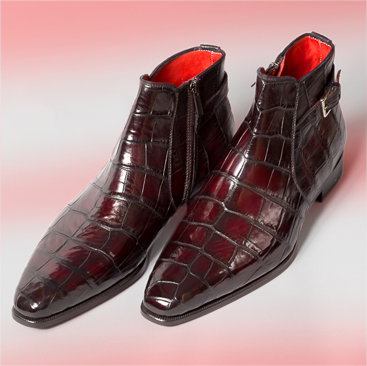bottine homme, altan bottier, boots homme, cuir alligator, chaussure homme, chaussure en cuir