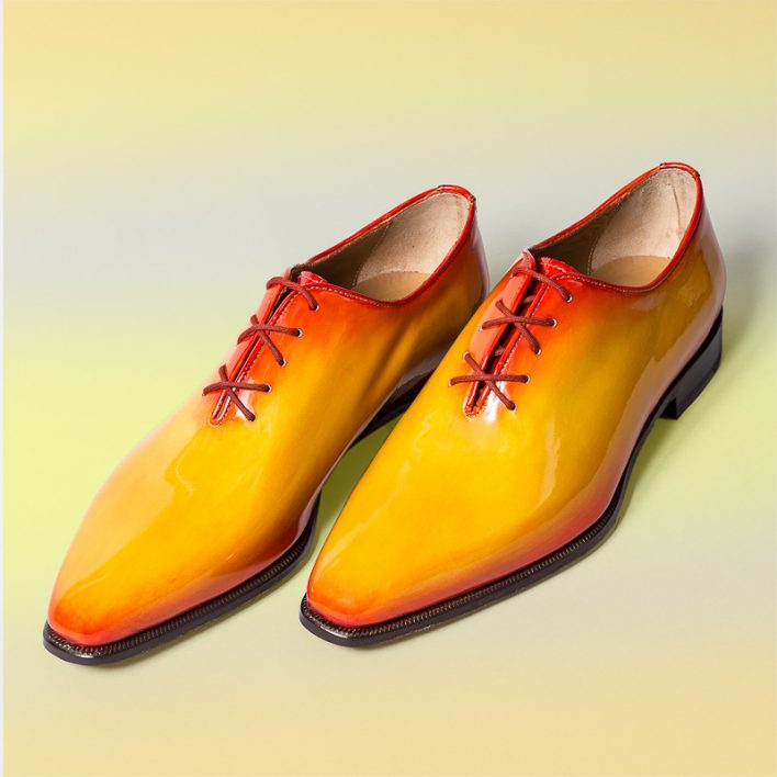 Oxford patent shoe