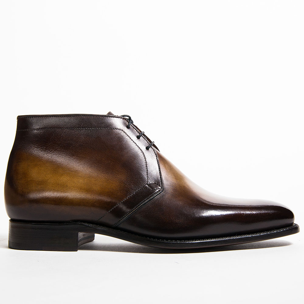 bottine, chukka boots, altan bottier, bottine altan bottier, chaussure homme, cuir à patiner, souliers patinés