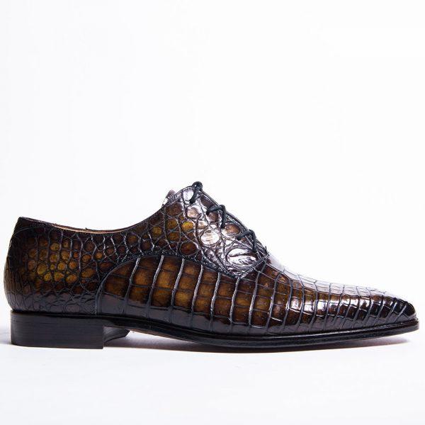 chaussure homme, soulier à patiner, richelieu en crocodile, altan bottier