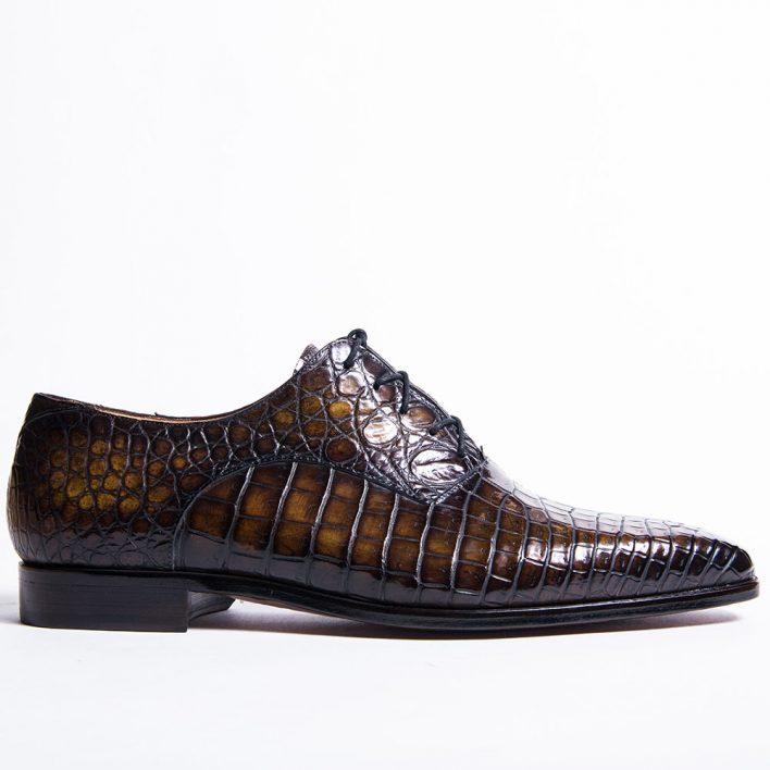 Chaussure Richelieu en crocodile