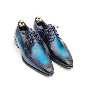 chaussure derby, chaussure homme, altan bottier, chaussure patine, paris, artisans bottier