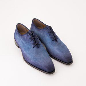 chaussure richelieu, chaussure daim, chaussure veau celours, altan bottier, patine, paris, chaussure de luxe