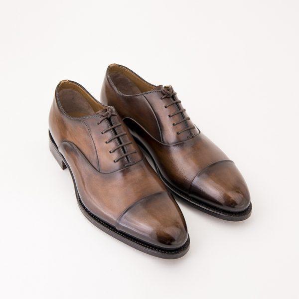 altan bottier, richelieu homme, chaussure homme, montage goodyear, chaussure patinée, patine