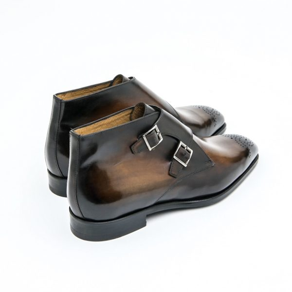 bottine, bottine pour homme, boots, bottine en cuir, bottine à boucles, bottine double boucle, altan bottier